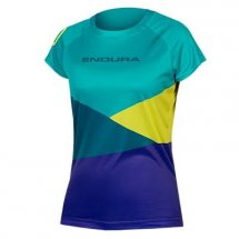 ENDURA Women SingleTrack Core Print Tee Kingfisher