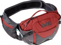 EVOC Hip Pack Pro 3L carbon grau-chili rot