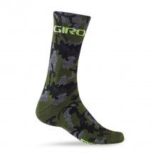 Giro Merino Seasonal Wool Sock camo/highlight yellow