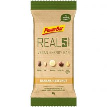 POWERBAR REAL 5 Vegan Energy Bar Banana Hazelnut