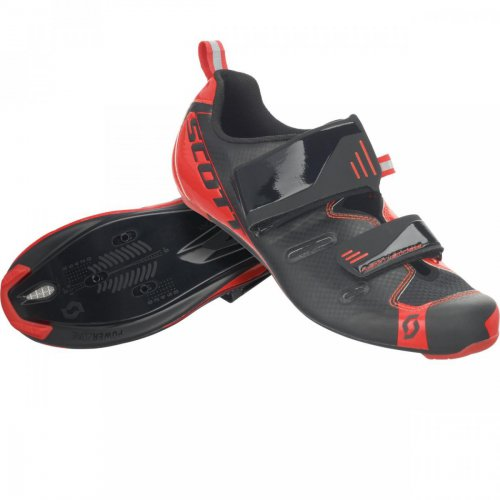 SCOTT Shoe Road Tri Pro black/neon red gloss black 2017 47.0