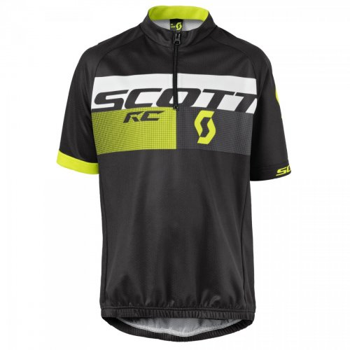 SCOTT Shirt Jr RC Pro s/sl black/sulphur yellow